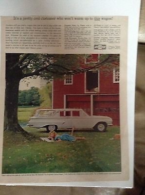Original 1960 Chevrolet Kingswood Station Wagon Magazine Ad