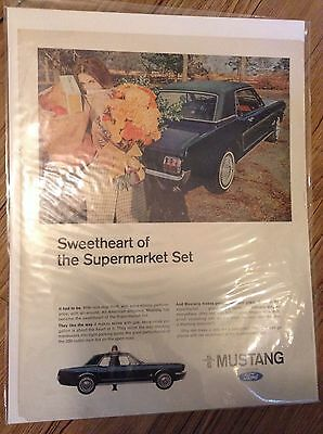 Original 1966 Ford Mustang Magazine  Ad - Sweetheart of the Supermarket Set