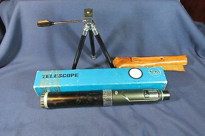 Vintage Selsi Telescope with Tripod, 13-40 Power, 40mm