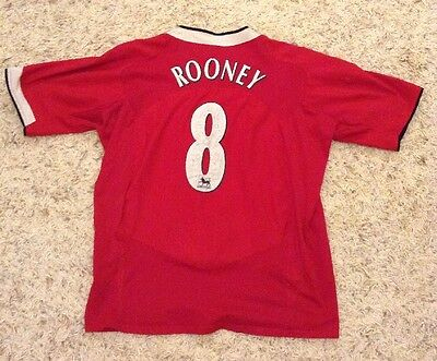 Rooney MANCHESTER UNITED 2004 Home Football Shirt. Large Adult - Man Utd Jersey