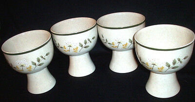 Royal Doulton England: 4 Lambethware WILL O' THE WISP Goblets: L.S. 1023: EXC:NR