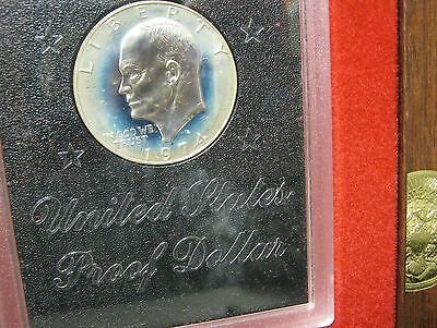 1974-S Brown Ike Proof Dollar- ( Milky) - In Origninal Box -   P-2