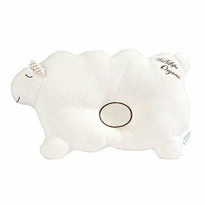 Baby Pillow For Newborn Organic Cotton, Protection for Flat Head Syndrome Lamb