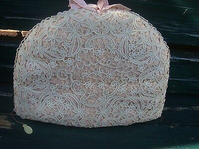 Vintage Large Lace Front Thick Padded Tea Cosy Antique Very Pretty