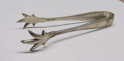 Vintage Sterling Silver Sugar Cube Tongs ~ 26.3 grams ~ 9-D394