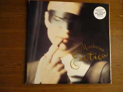 """""""Madonna""""...'Erotica'...dance...with Poster...12""""...Uk...1992..."""