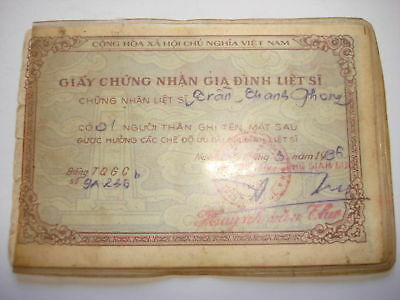 Family Of Vietnam War VC Hero Proof Certificate Issued 1986