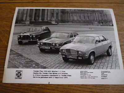 Vanden Plas Daimler And Allegro Group Original Press Photo , Brochure Related