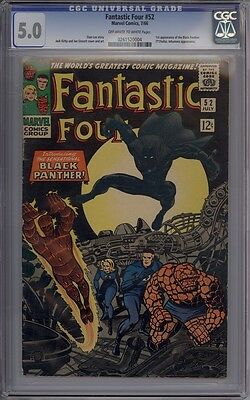 Fantastic Four #52 - CGC Graded 5.0 - 1st Black Panther