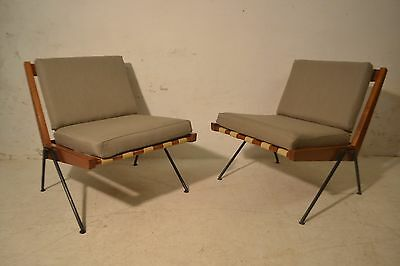 Stunning Pair Vintage Robin Day Hille Chevron Lounge Chairs