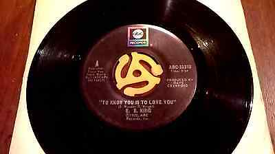 B.B. KING  TO KNOW YOU IS TO LOVE YOU excellent+ 1973 VINYL 45 SINGLE