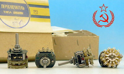 4P5T 4 POLE 5 THROW * LOT OF 10 * Vintage Military Grade Rotary Switch throw