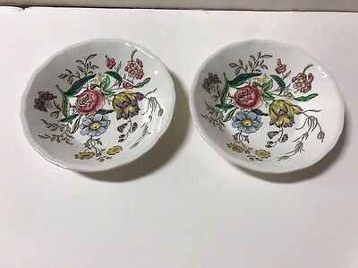 Copeland Spode Gainsborough Marlborough Old Mark 5 1/8' Berry Bowl Set 2