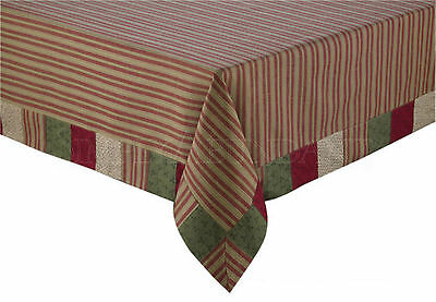 Merry Christmas Tablecloth by Park Designs, Quilted Patchwork Border, 60x84