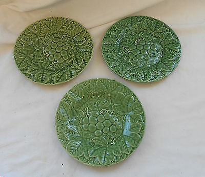 STUNNING Vintage Collectable SET Of 3 R.H MACY & Co CERAMIC SERVING PLATES 20cm