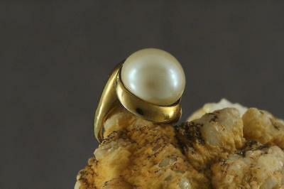 Vintage Signed Costume Jewelry HATTIE CARNEGIE Couture Design Faux Pearl Ring 7