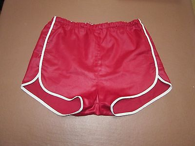 Medium unbranded vintage burgundy nylon running shorts.