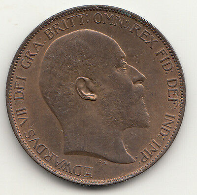 1902 Edward VII PENNY UNCIRCULATED Spink 3990A. A SUPERB coin