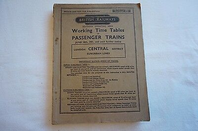1951 BR Working Timetable Southern Region London Central District Section B