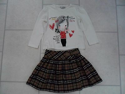 Lovely Girls F&F Checked / Tartan Skirt, Kilt & George Top Age 3/4 Years