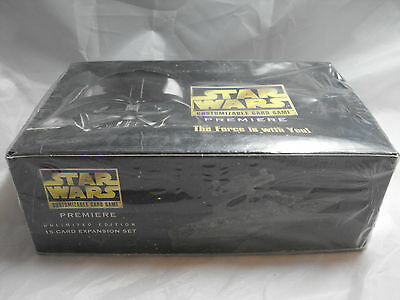 Star Wars Ccg White Border Premiere Complete Sealed Booster Box Of 36 Packs