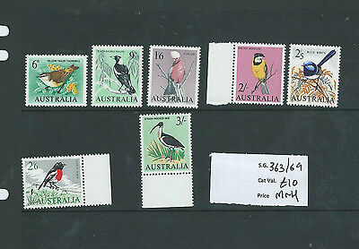 Australia 1964-65 Birds Set Mnh