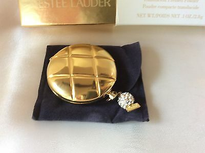 Estee Lauder Lucidity Translucent Pressed Powder Compact w/ JEWELED CHARM in Box
