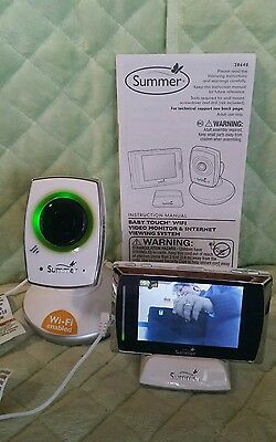 Summer Infant 28640 Baby Touch WiFi Video Monitor with Camera ``NO WIFI '' BIN!