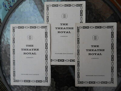 Three Programmes from the Theatre Royal, Lowestoft