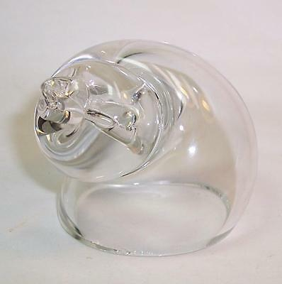 Vintage WEDGWOOD Art Glass SHELL Clear SIGNED
