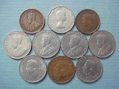 Lot Of Coins From Canada - 1927 - To 1960