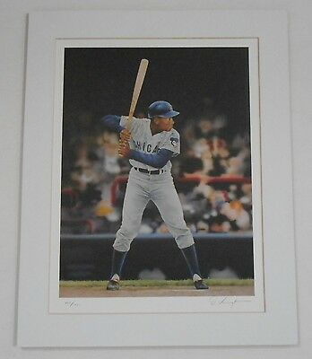 Ernie Banks D. Voigt Color Lithograph by Friends of the Hall of Fame 362/1000