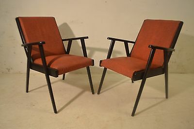 STUNNING PAIR VINTAGE 1950's LOUNGE CHAIRS