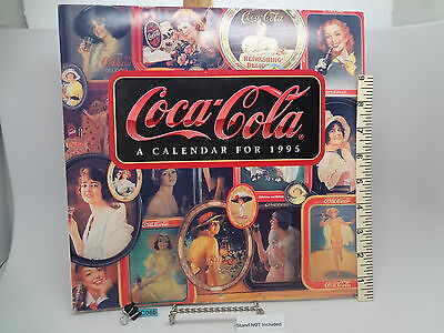 Coca-Cola Calendar from 1995 No Writing or Marks Vintage Coke Ads & Pictures
