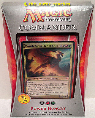 MTG 2013 Magic the Gathering COMMANDER Power Hungry Deck, SEALED in Worn Box