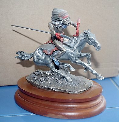 """Limited Chilmark  """"WARRIOR"""" limited, inspired by Remington, 1989, horse,177/950"""