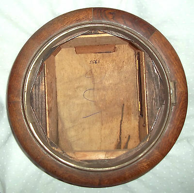"VINTAGE OAK CASE FOR 12""  FUSEE ENGLISH DIAL CLOCK MOVEMENT c/w BEZEL(NO GLASS)"