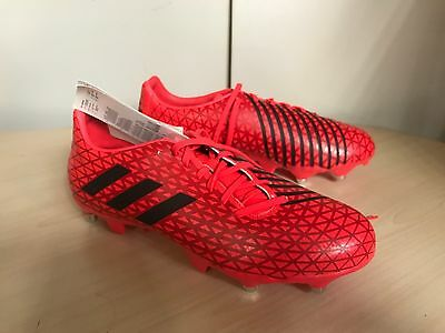 Adidas Malice SG Rugby Boots  rrp £65 UK 8.5 Red / Black