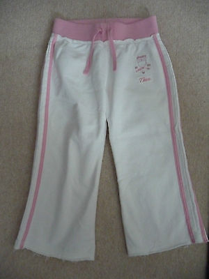 Girls Next Cream/Pink Tracksuit Bottoms Age 7