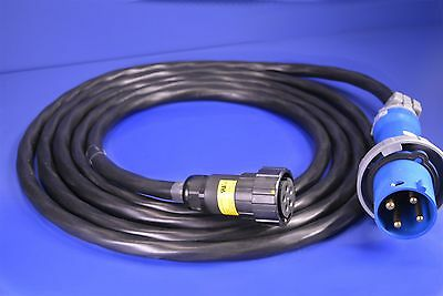 Hubbell 460P9V05 60AMPS 250VAC 4-Pin & Sleeve Male Connector w/ 20' 600V Cable