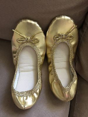 Authentic GOLD Jiffies Girl Kids Ballet Dance Shoes
