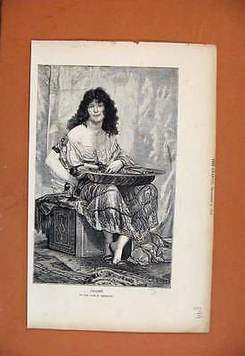 Old Antique Print Salome The Graphic C1872 998270