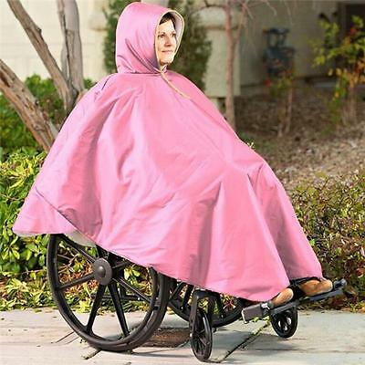 Care Apparel 9661-0-PNK Wheelchair Winter Poncho, Pink