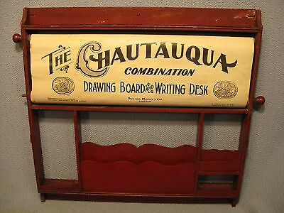 Chautauqua 1900 Industrial Art Desk Fold-Down Colored Lithographic Illustrations