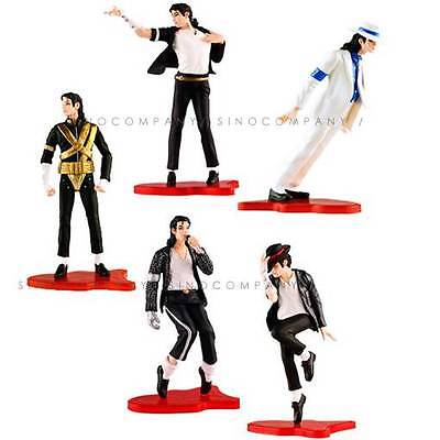 5 FIGURE set MICHAEL JACKSON STATUE DOLL FOREVER COOL No box Loose AK195