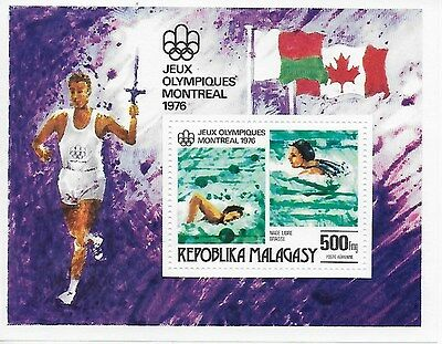 REPUBLIC OF MADAGASCAR -1976- Summer Olympic Games in Montreal - MNH Sou. Sheet