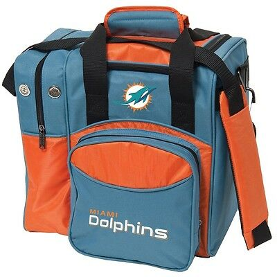 NFL Miami Dolphins 1 Ball Bowling Bag NEW DOLPHINS LOGO