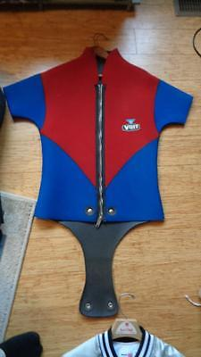 Vintage Beaver Tail Wetsuit Top Voit Red & Blue Size S to M