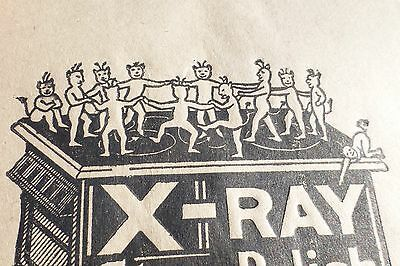 VINTAGE DANCING DEVILS X-RAY Stove Polish Advertising on Paper Bags 2 AMAZING