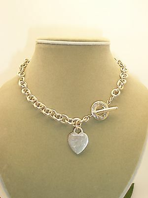 Tiffany & Co. Sterling Silver Toggle Heart Tag Link Necklace
